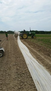 tractor rolling row cover